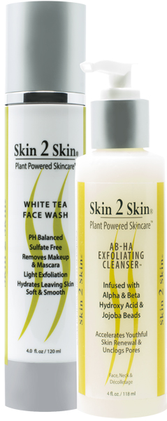 Skin 2 Skin Daily Hyrating White Tea Cleanser & Alph & Beta Hyro