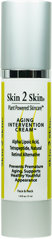 Skin 2 Skin Aging Intervention & Prevention Cream with Alpha Lipoic Acid, Tetrapeptide, 33 Antioxidants Promoting Healthy Youthful Skin